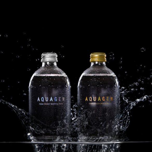 Aquagen (Taiwan) mélytengeri víz 0,33l mentes üveg palackban