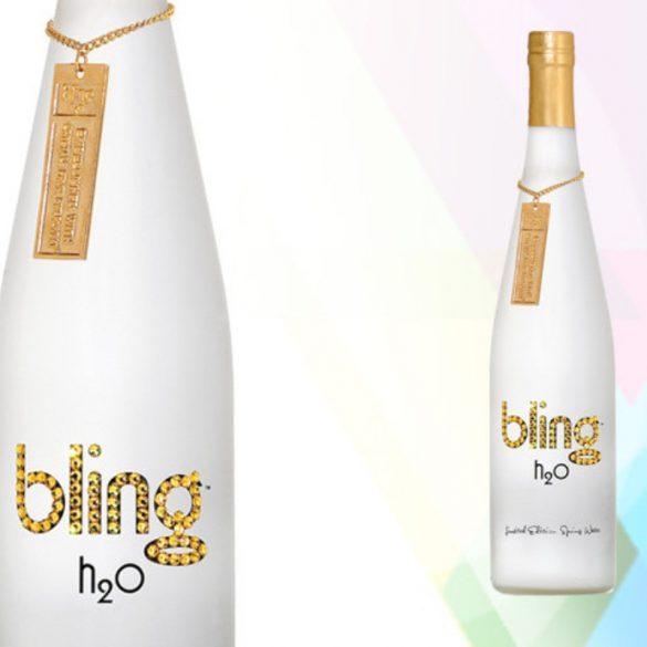 Bling H2O Swarovski mentes forrásvíz üvegben 750ml Gold