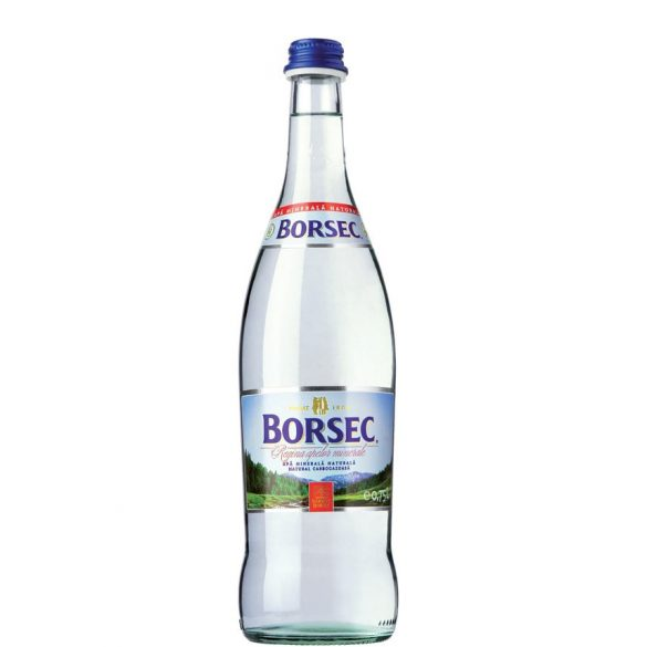 Borsec mineral water 0,75l sparkling in glass