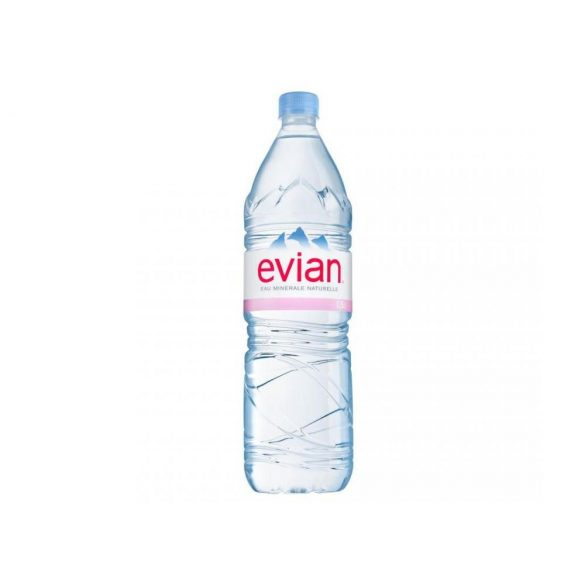 Evian mineral water 1,5l still in PET bottle