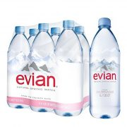 Evian mineral water 1l still in PET bottle