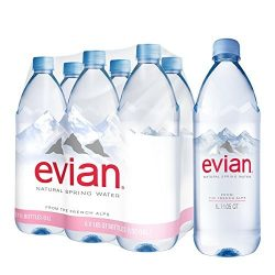Evian mineral water 1l still in PET bottle