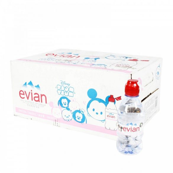 Evian Disney mineral water 0,31l still in PET bottle 5pc mixed figures