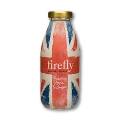 Firefly Revitalizing fruity drink Bramley Apple Ginger 330ml in glass