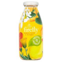 Firefly Revitalizáló gyümölcsital Citrom, Lime, Gyömbér ízesítéssel 330ml üvegpalackban