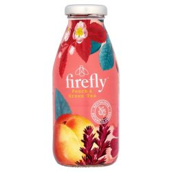 Firefly Revitalizing fruity drink Peach Green Tea 330ml in glass
