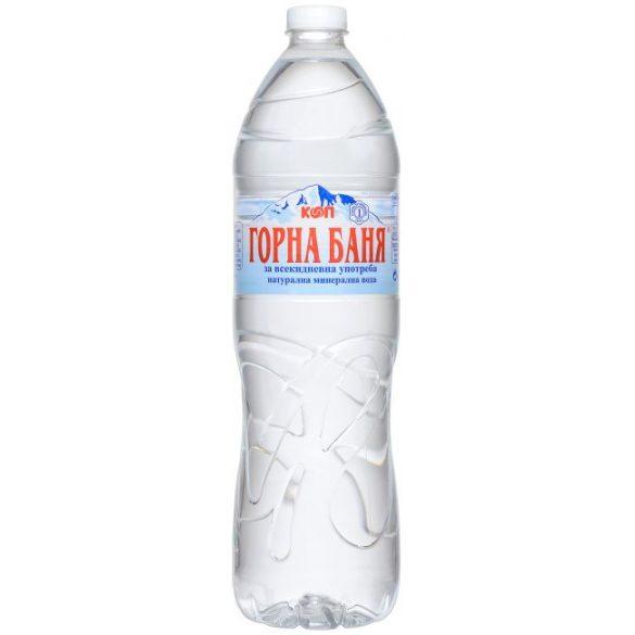 Gorna Bania pH9,4 természetes mentes ásványvíz 1,5l