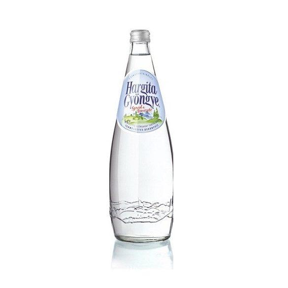 Hargita Gyöngye 0,75l szénsavas ásványvíz üveg palackban