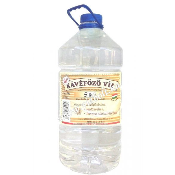 Water recommended for coffee makers 5l