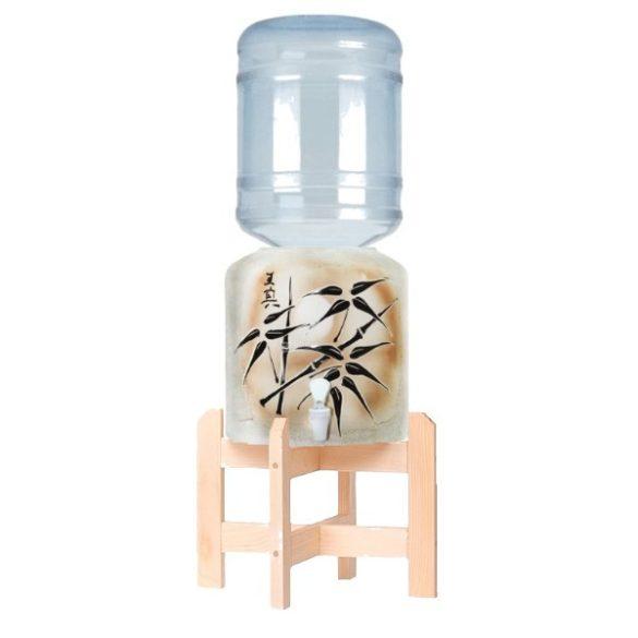 Ceramic Dispenser (Bamboo) HANDMADE