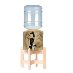 Kerámia vízadagoló állvánnyal (egyiptomi macska) HANDMADE 19l ballonhoz