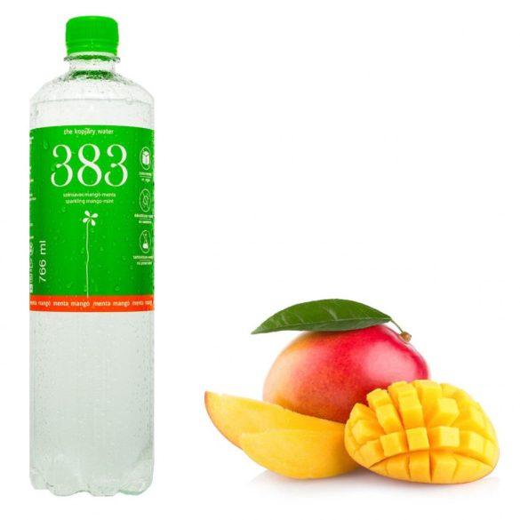 Kopjary 383 mangó-menta ízesített szénsavas ásványvíz 0,766l pet palackban