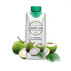 Lekker Love 100%  Pure Coconut Water 0,25l in glass