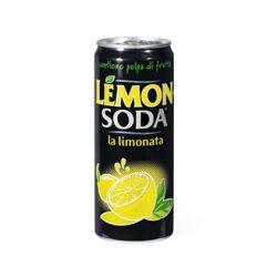 LEMON SODA 0,33l szénsavas ízesített ásványvíz SLIM alu dobozban
