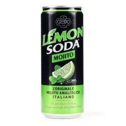 LEMON SODA Mojito 0,33l szénsavas ízesített ásványvíz SLIM alu dobozban