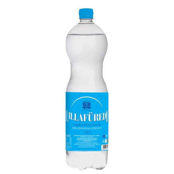 Lillafüredi pH7,3 natural mineral water 1,5l sparkling in PET bottle