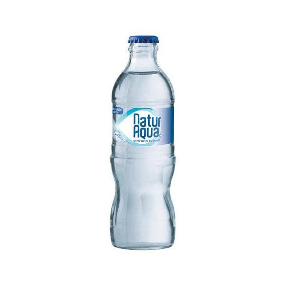 Natur Aqua 0,33l szénsavas ásványvíz üvegben