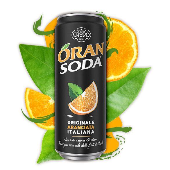 Oran SODA 0,33l narancsos ízű szénsavas ízesített ásványvíz SLIM alu dobozban