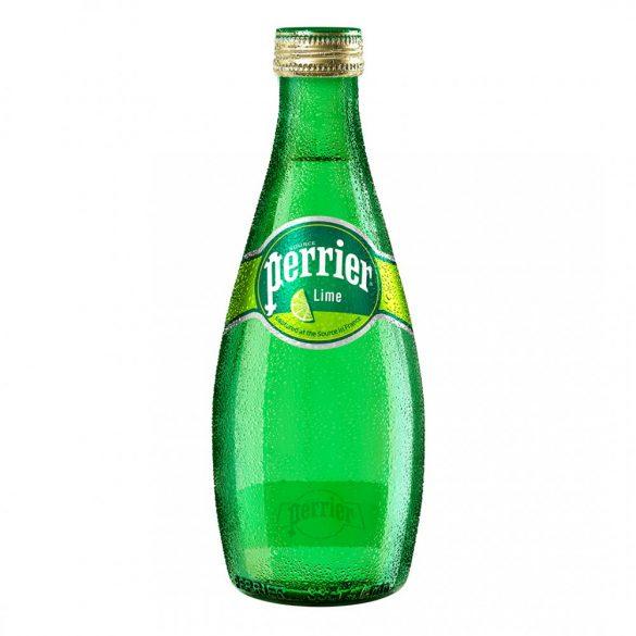 Perrier 0,33l zöld citromos szénsavas ásványviz üvegben