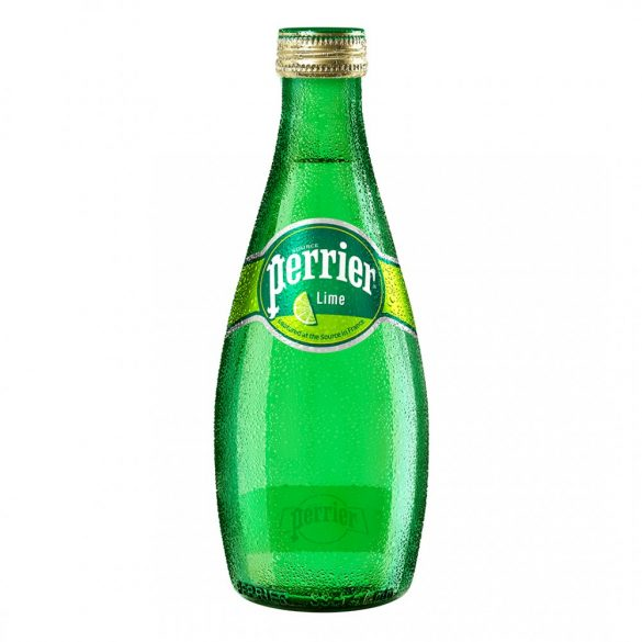 Perrier mineral water 0,33l lime sparkling in glass