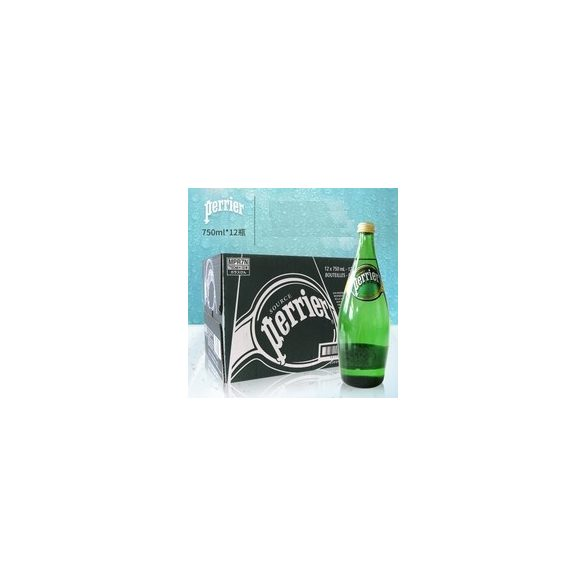 Perrier mineral water 0,75l sparkling in glass