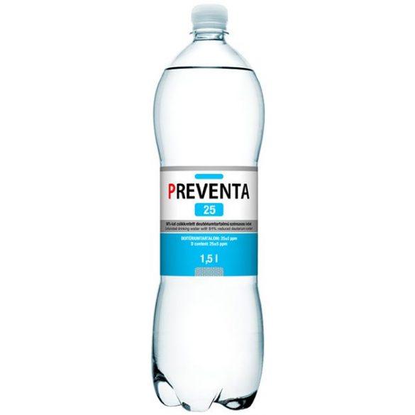 Preventa-25 csökkentett deutériumtartalmú 1,5l szénsavas víz