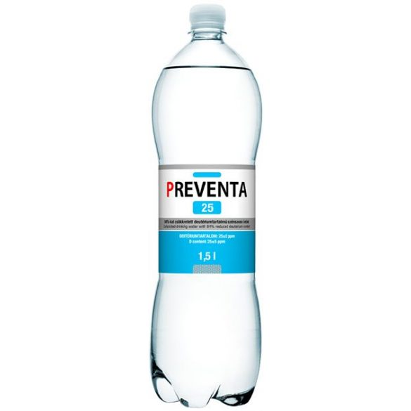 Preventa-25 reduced deuterium 1,5l sparkling water