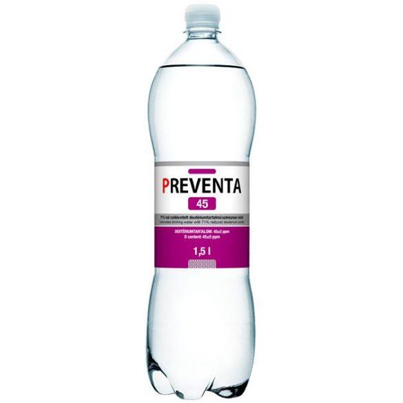 Preventa-45 csökkentett deutériumtartalmú 1,5l szénsavas víz