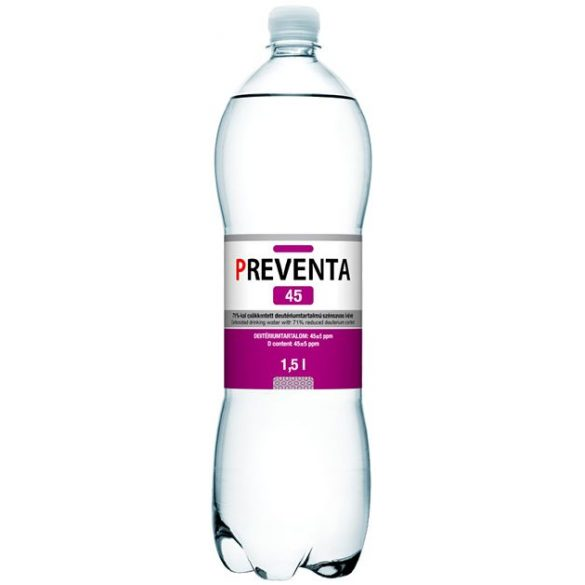Preventa-45 reduced deuterium 1,5l sparkling water