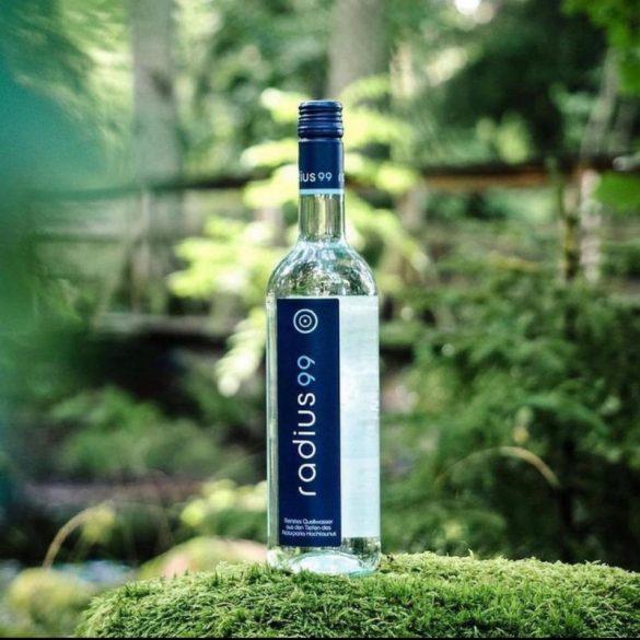 Radius99 0,75l mentes ásványvíz üvegben