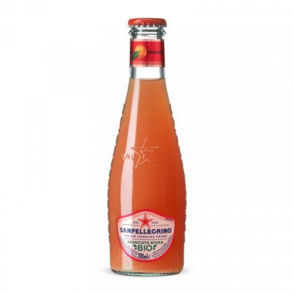 San Pellegrino 0,2l BIO vérnarancs ízű szénsavas ital üveg palackban