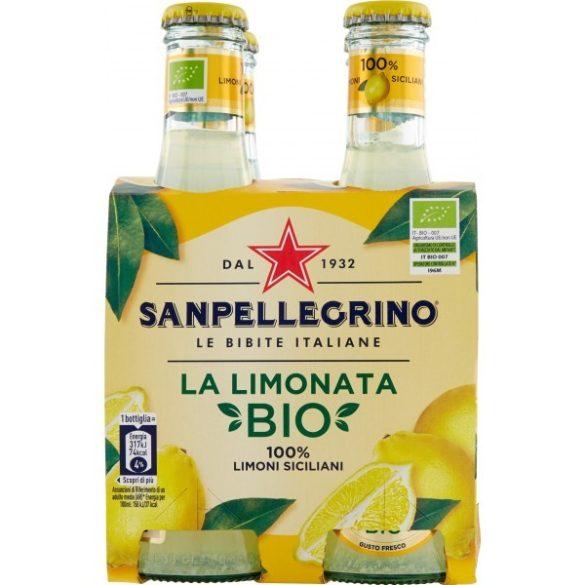 San Pellegrino 0,2l BIO citrom ízű szénsavas ital üveg palackban