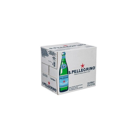 San Pellegrino mineral water 0,75l sparkling in glass