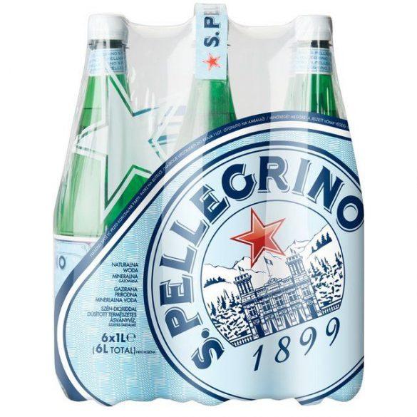San Pellegrino 1l szénsavas ásványvíz PET palackban