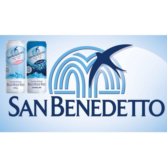 San Benedetto 0,33l szénsavas forrásvíz SLIM alu dobozban