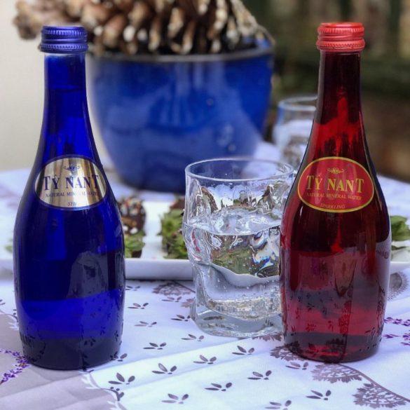 Ty Nant Blue forrásvíz 0,75l szénsavas üveg palackban