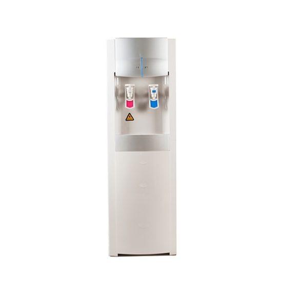 Bérelhető normál hálózati vízadagoló fehér ezüst színben vízszűrővel