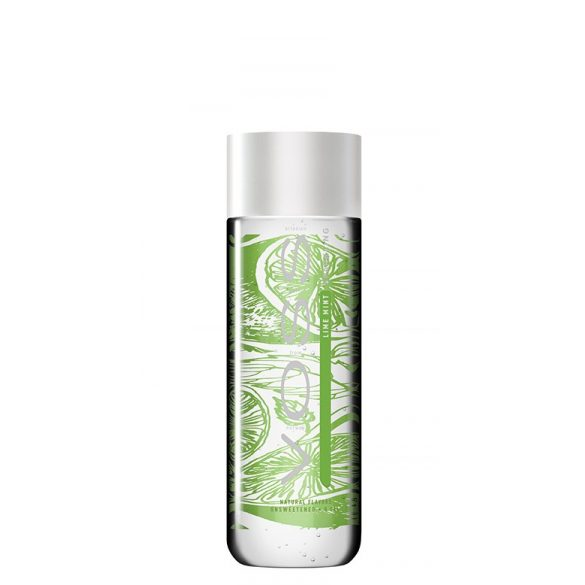 Voss lime mint mineral water 0.375l sparkling in glass