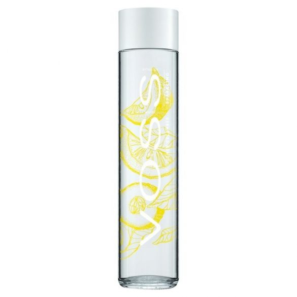 Voss lemon cucumber mineral water 0.375l sparkling in glass