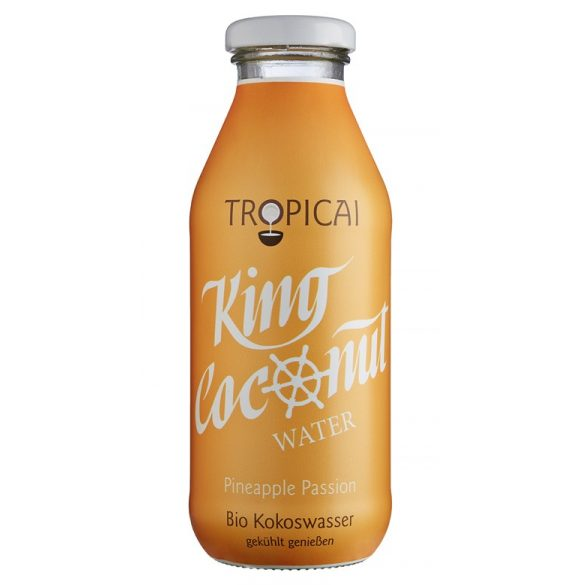 Coconut Water BIO Pineapple Passion 0,35l in glass