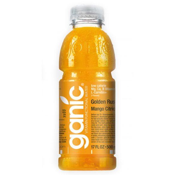 Ganic Vitaminwater-Sport-Golden Rush, Mango Citric Ca 0,5l mentes ásványvíz PET palackban