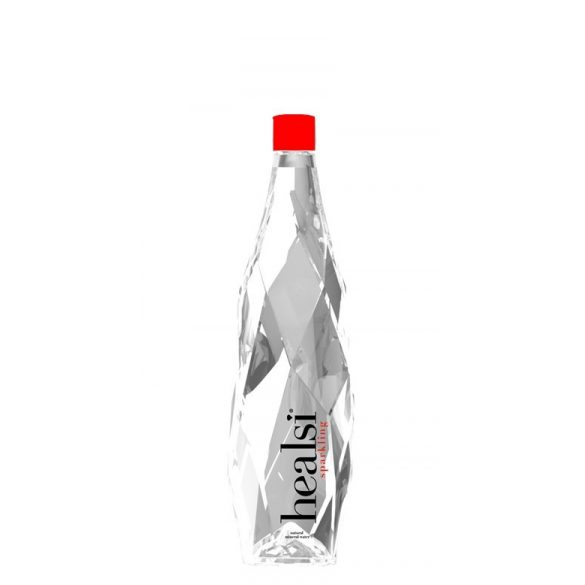 Healsi Mineral Water Diamond Bottle Red 0,5l sparkling in PET bottle