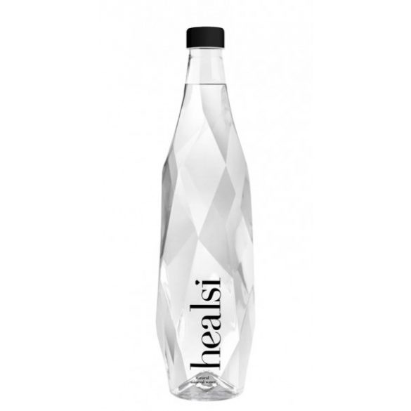 Healsi Water Diamond Bottle Crystal 0,85l mentes ásványvíz üveg palackban