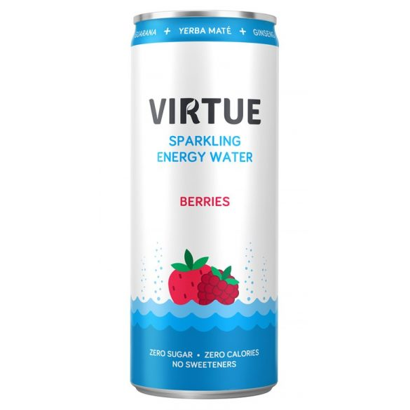 Virtue Energie Water-Berries 0,25l sparkling in can