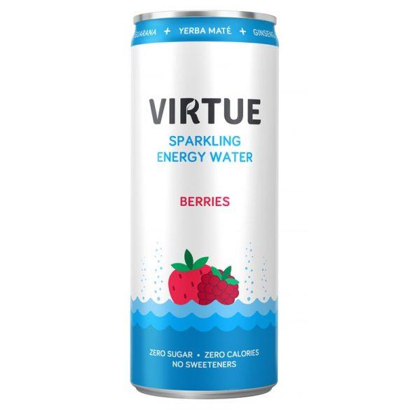 Virtue Energie Water-Berries 0,25l szénsavas ásványvíz alu dobozban